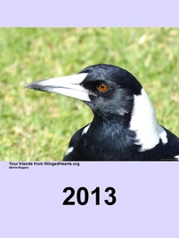 Winged Hearts Calendar for 2013